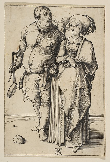 Fascinating Historical Picture of Albrecht Drer with The Cook and His Wife in 1496