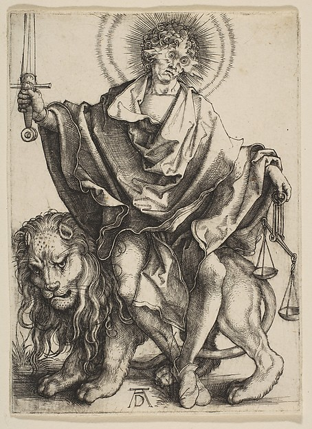 Fascinating Historical Picture of Albrecht Drer with Justice in 1499