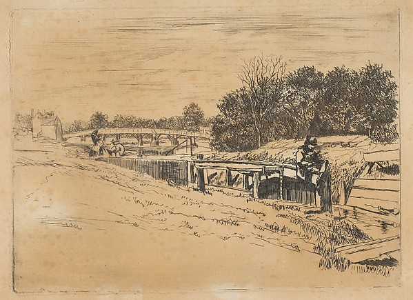 Whistler at Moulsey [Molesey Lock]