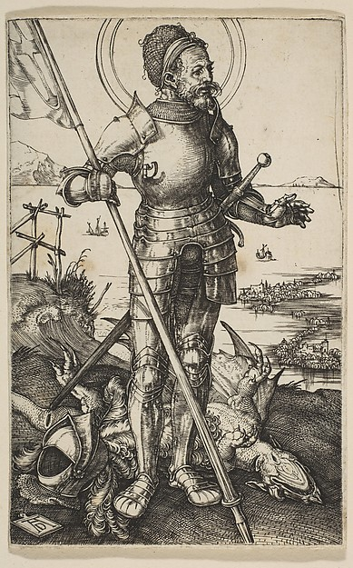 Fascinating Historical Picture of Albrecht Drer with Saint George Standing in 1502