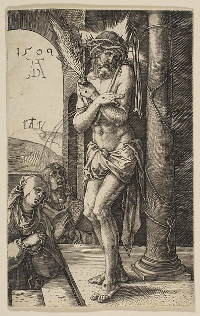 This is What Albrecht Drer and The Man of Sorrows from The Passion Looked Like  in 1509