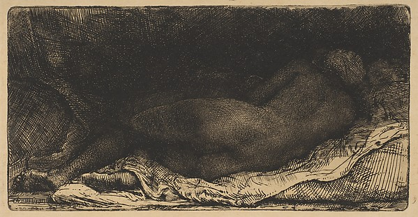"Reclining Female Nude (""Negress"" Lying Down)"