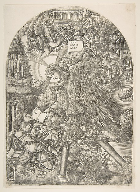 The Angel Gives Saint John the Book to Eat, from the Apocalypse
