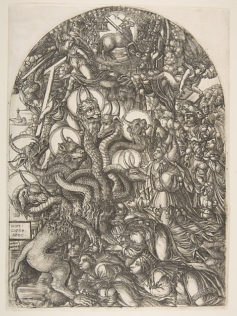 The Beast with Seven Heads and Ten Horns, from the Apocalypse