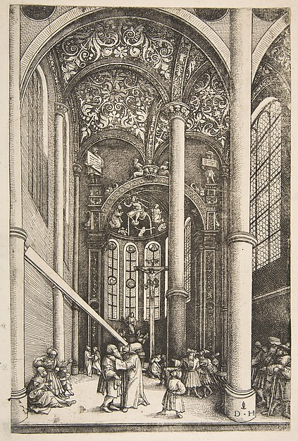 Interior of the Church of Saint Katherine's with the Parable of the Mote and the Beam