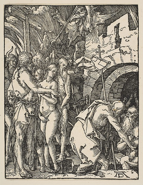 Fascinating Historical Picture of Albrecht Drer with Christ in Limbo from The Small Passion in 1509
