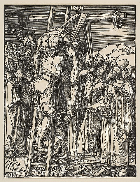 Fascinating Historical Picture of Albrecht Drer with The Descent from the Cross from The Small Passion in 1509