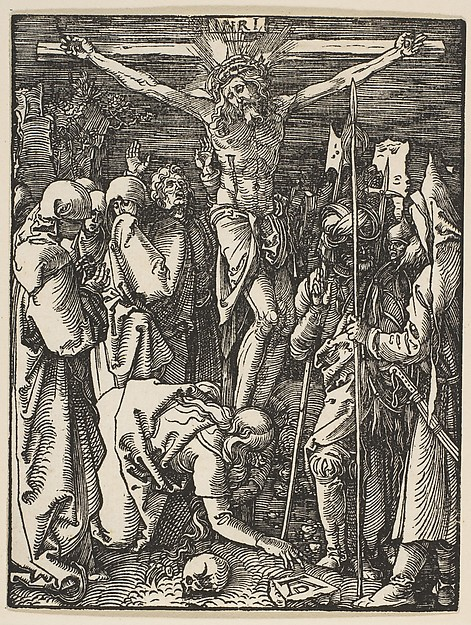 Fascinating Historical Picture of Albrecht Drer with The Crucifixion from The Small Passion in 1509