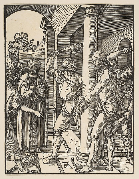 Fascinating Historical Picture of Albrecht Drer with The Flagellation from The Small Passion in 1509