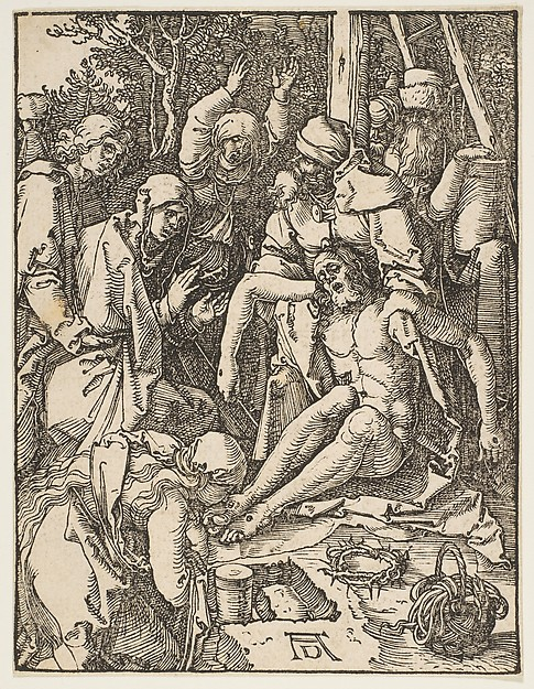 Fascinating Historical Picture of Albrecht Drer with The Lamentation from The Small Passion in 1509