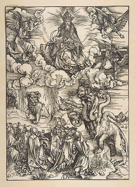 Fascinating Historical Picture of Albrecht Drer with The Beast with Two Horns Like a Lamb from The Apocalypse Latin Edition 1511 in 1496