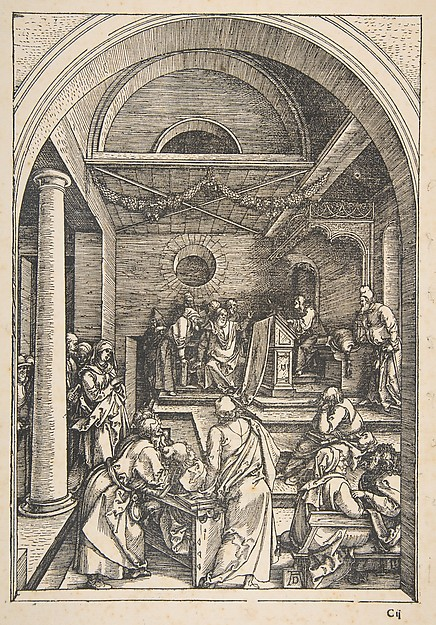 Christ among the Doctors, from The Life of the Virgin, 1511
