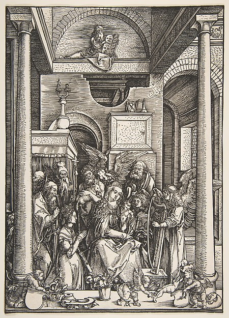 Fascinating Historical Picture of Albrecht Drer with The Glorification of  the Virgin from The Life of the Virgin in 1502