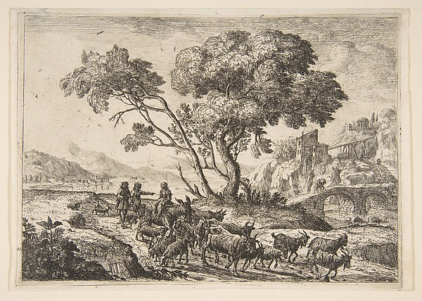 Fascinating Historical Picture of Claude Lorrain with Departure for the Fields in 1638