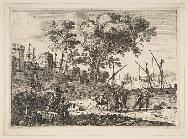 Fascinating Historical Picture of Claude Lorrain with Coast Scene with an Artist in 1638