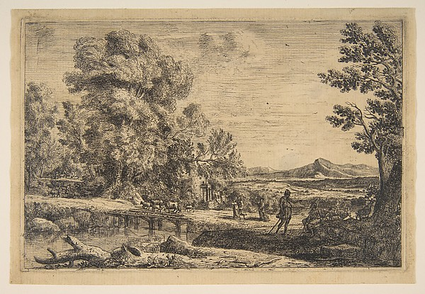 Fascinating Historical Picture of Claude Lorrain with Rebecca and Eliezer in 1638