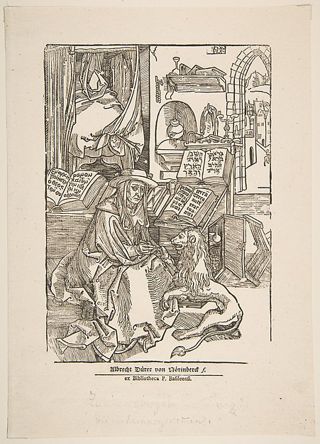 St. Jerome Extracting a Thorn from the Lion's Foot, 19th century reprint