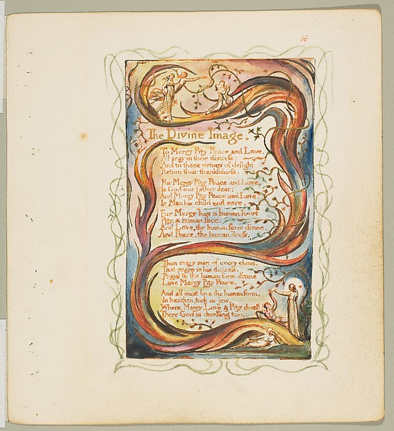 This is What William Blake and Songs of Innocence and of Experience| The Divine Image Looked Like  in 1825