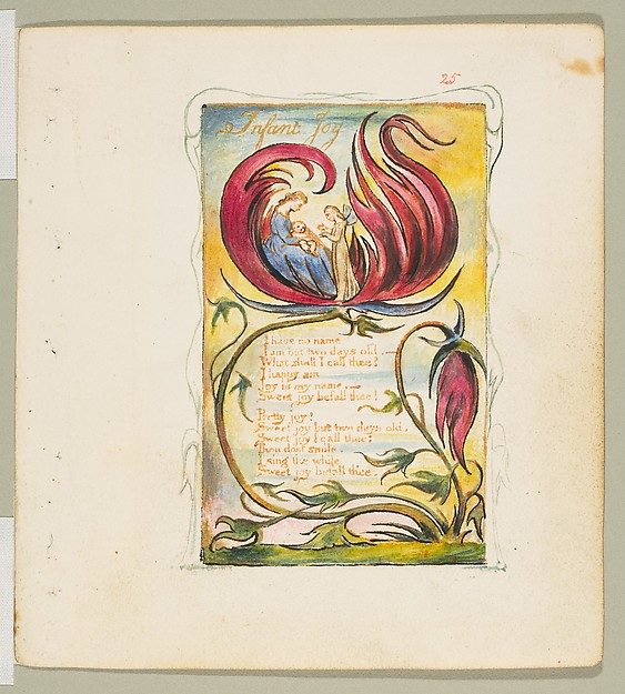 This is What William Blake and Songs of Innocence and of Experience| Infant Joy Looked Like  in 1825