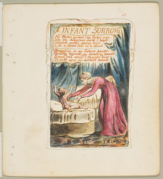 This is What William Blake and Songs of Innocence and of Experience| Infant Sorrow Looked Like  in 1825