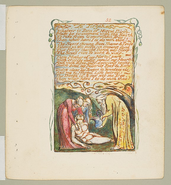 This is What William Blake and Songs of Innocence and of Experience| To Tirzah Looked Like  in 1825
