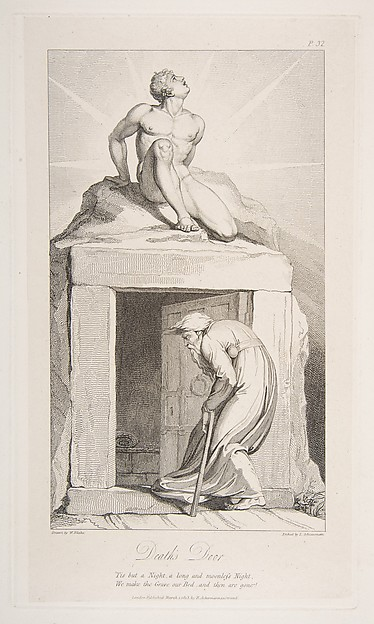 Fascinating Historical Picture of Luigi Schiavonetti with Deaths Door from The Grave a Poem by Robert Blair on 3/1/1813