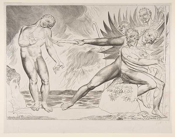 This is What William Blake and The Circle of Corrupt Officials| The Devils Tormenting Ciampolo from Dantes Inferno Canto XXII Looked Like  in 1825