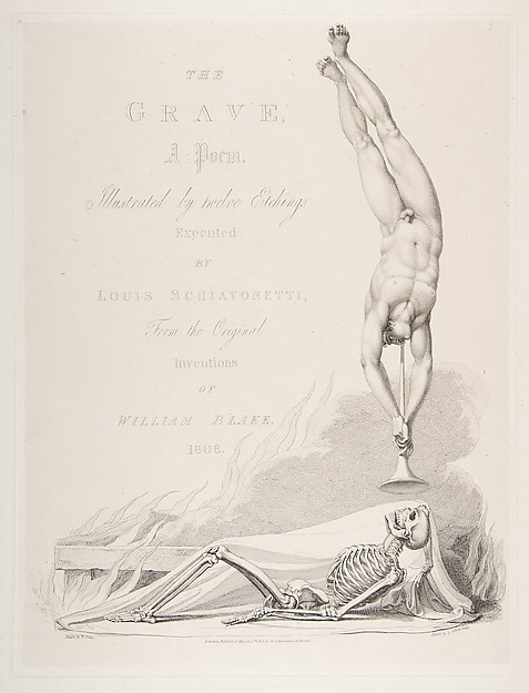 Fascinating Historical Picture of Luigi Schiavonetti with The Skeleton Re-Animated Title Page to the Grave a Poem by Robert Blair on 3/1/1813