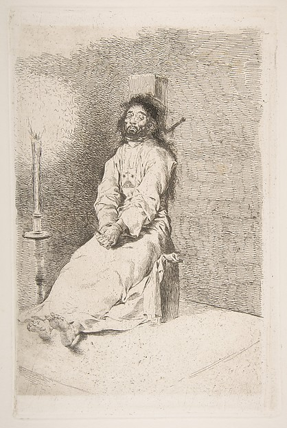 The garroted man (El agarrotado)