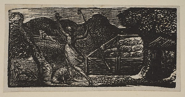 Shepherd Chases Away a Wolf, from Thornton's Pastorals of Virgil