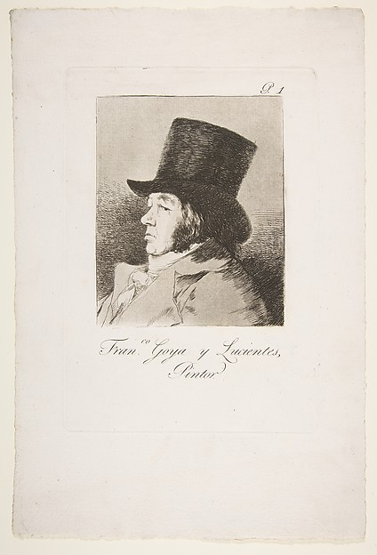 Francisco Goya y Lucientes, Painter (Pintor), from The Caprices (Los Caprichos), plate 1
