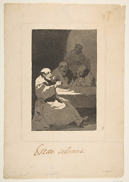 Plate 13 from 'Los Caprichos':They are Hot (Estan Calientes)