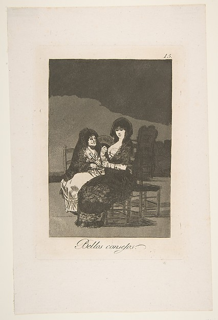 A Pretty Piece of Advice (Bellos consejos), from The Caprices (Los Caprichos), plate 15