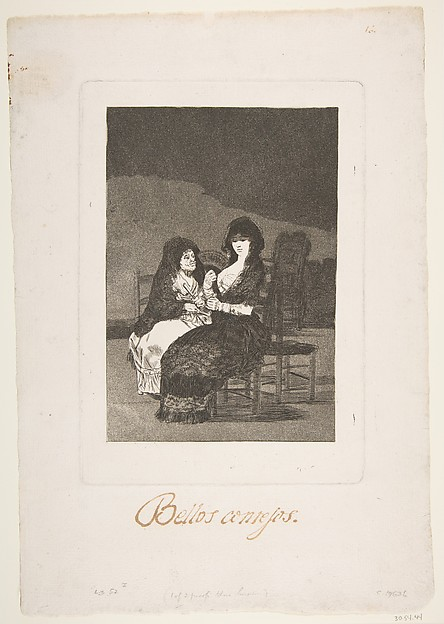Plate 15 from 'Los Caprichos': A pretty piece of advice (Bellos consejos)