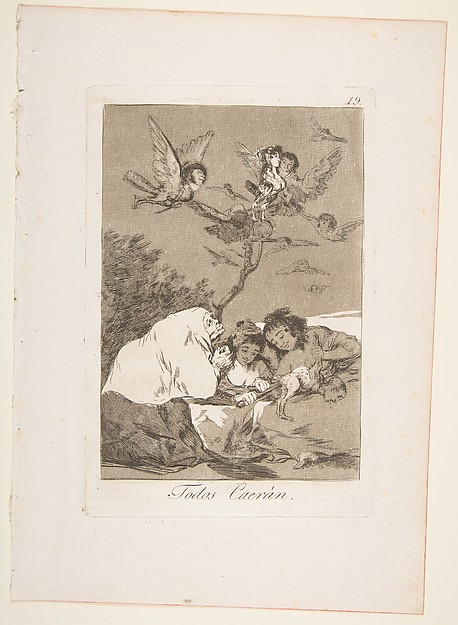 Plate 19 from ' Los Caprichos': All will fall (Todos Caerán)