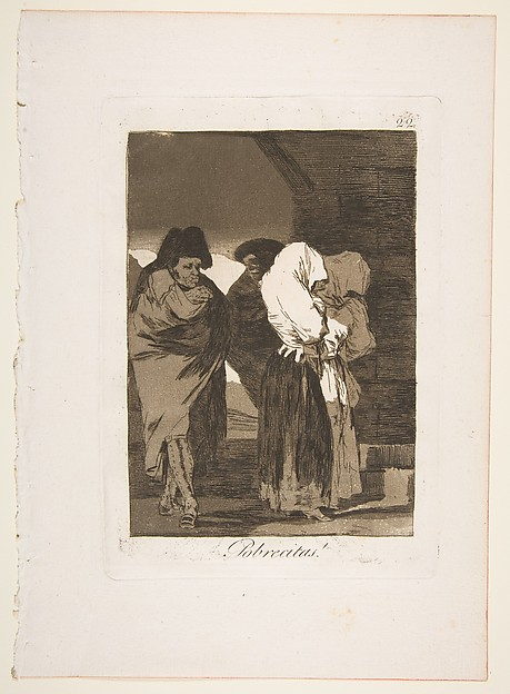 Plate 22 from 'Los Caprichos': Poor little girls! (Pobrecitas!)