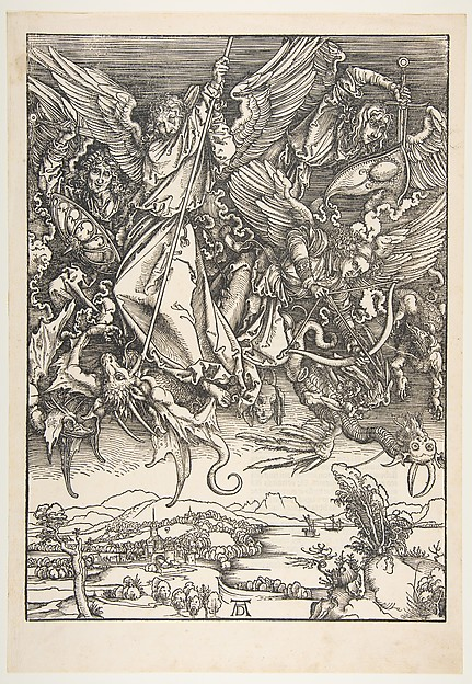St. Michael Fighting the Dragon, from the Apocalypse