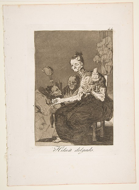 They spin finely (Hilan delgado), from The Caprices (Los Caprichos), plate 44