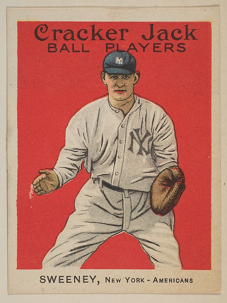 Sweeney, New York, American League, from the Ball Players series (E145) for Cracker Jack