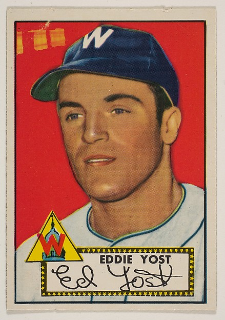 Eddie Yost, from the 1952 Topps Issue