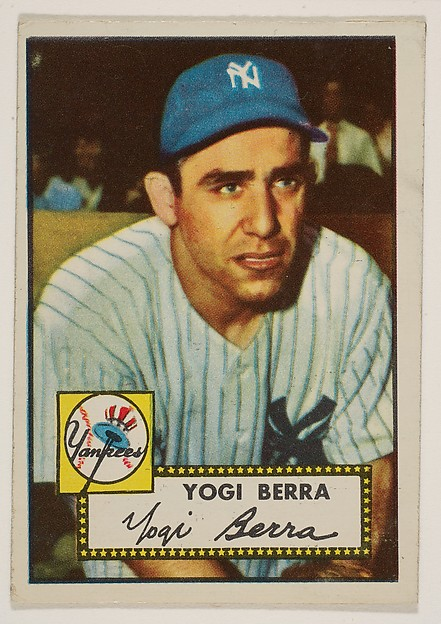Yogi Berra, from the 1952 Topps Issue