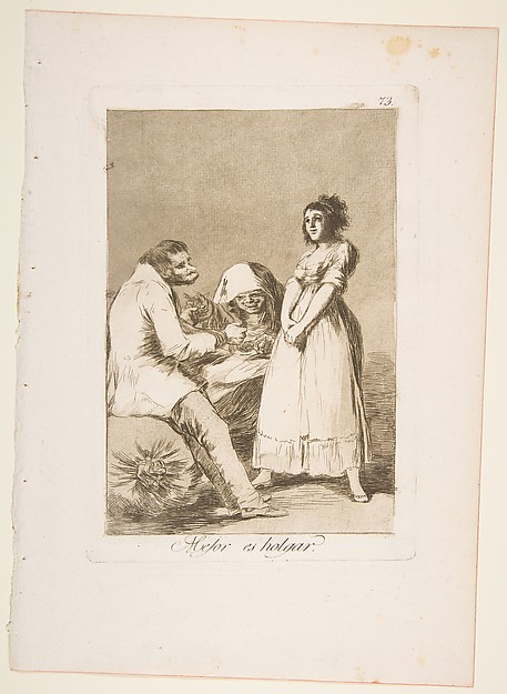 It is better to be lazy (Mejor es holgar), from The Caprices (Los Caprichos), plate 73