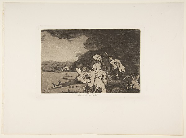 Plate 6 from 'The Disasters of War' (Los Desastres de la Guerra): It serves you right (Bien te se està.)