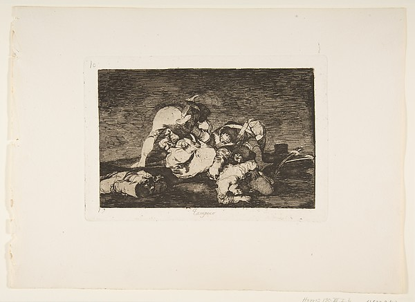 Plate10 from 'The Disasters of War' (Los Desastres de la Guerra): 'Nor [do these] either.' (Tampoco)