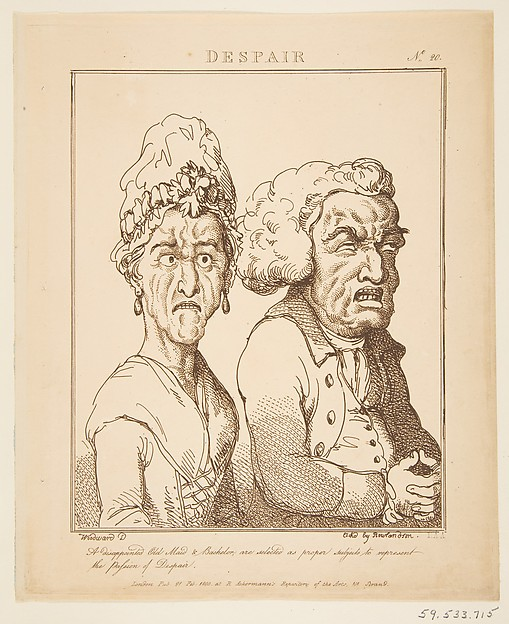 Fascinating Historical Picture of Thomas Rowlandson with Despair on 2/21/1800