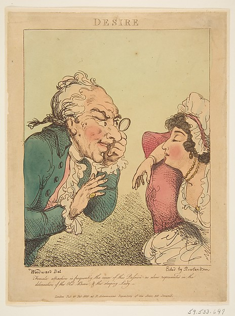 Fascinating Historical Picture of Thomas Rowlandson with Desire on 2/21/1800
