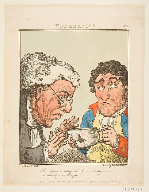 This is What George Moutard Woodward and Veneration (Le Brun Travested or Caricatures of the Passions) Looked Like  on 1/21/1800