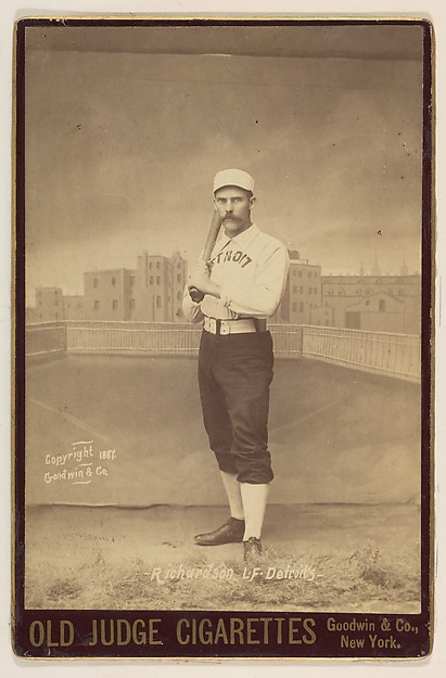 Hardy Richardson, Left Field, Detroit, from the series Old Judge Cigarettes