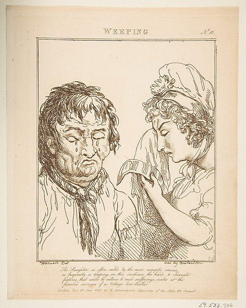 This is What George Moutard Woodward and Weeping (Le Brun Travested or Caricatures of the Passions) Looked Like  on 1/21/1800