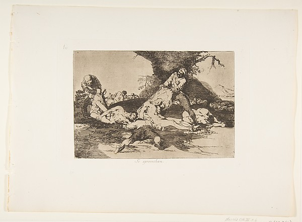 They Make Use of Them (Se aprovechan), from The Disasters of War (Los Desastres de la Guerra), plate 16